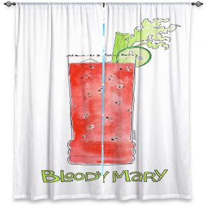 Decorative Window Treatments | Marley Ungaro - Cocktails Bloody Mary | Water color still life class drink alcohol