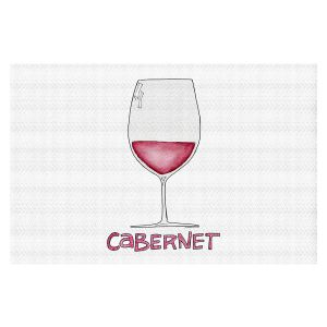 Decorative Floor Covering Mats | Marley Ungaro - Cocktails Cabernet Wine | Wine Glass
