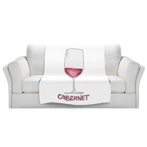 Artistic Sherpa Pile Blankets | Marley Ungaro - Cocktails Cabernet Wine | Wine Glass