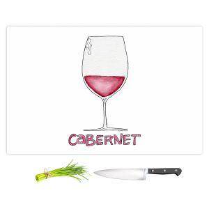 Artistic Kitchen Bar Cutting Boards | Marley Ungaro - Cocktails Cabernet Wine | Wine Glass