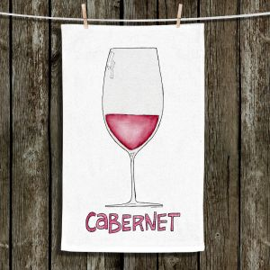 Unique Bathroom Towels | Marley Ungaro - Cocktails Cabernet Wine | Wine Glass