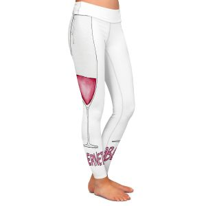 Casual Comfortable Leggings | Marley Ungaro - Cocktails Cabernet Wine | Wine Glass