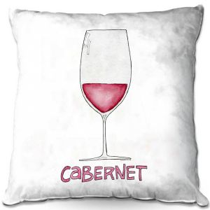 Throw Pillows Decorative Artistic | Marley Ungaro - Cocktails Cabernet Wine | Wine Glass