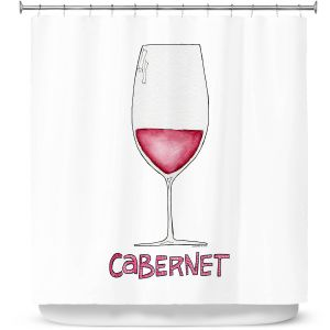 Premium Shower Curtains | Marley Ungaro - Cocktails Cabernet Wine | Wine Glass