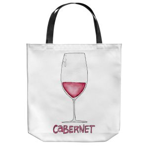 Unique Shoulder Bag Tote Bags | Marley Ungaro - Cocktails Cabernet Wine | Wine Glass