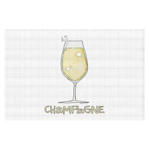 Decorative Floor Covering Mats | Marley Ungaro - Cocktails Champagne | Wine Glass