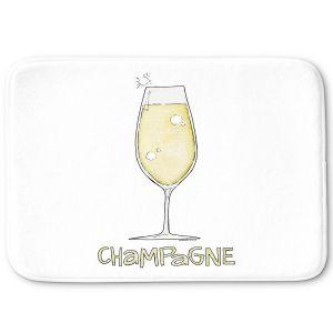 Decorative Bathroom Mats   Marley Ungaro - Cocktails Champagne   Wine Glass