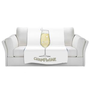 Artistic Sherpa Pile Blankets | Marley Ungaro - Cocktails Champagne | Wine Glass