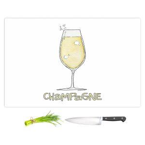 Artistic Kitchen Bar Cutting Boards | Marley Ungaro - Cocktails Champagne | Wine Glass