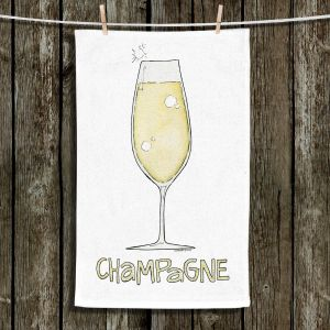 Unique Hanging Tea Towels | Marley Ungaro - Cocktails Champagne | Wine Glass