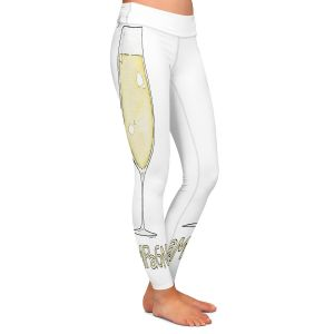 Casual Comfortable Leggings | Marley Ungaro - Cocktails Champagne | Wine Glass