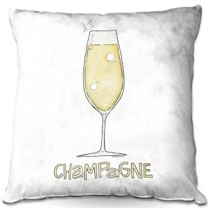 Throw Pillows Decorative Artistic | Marley Ungaro - Cocktails Champagne | Wine Glass