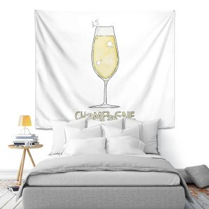 Artistic Wall Tapestry | Marley Ungaro - Cocktails Champagne | Wine Glass