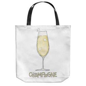 Unique Shoulder Bag Tote Bags | Marley Ungaro - Cocktails Champagne | Wine Glass