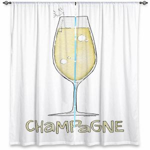 Decorative Window Treatments | Marley Ungaro - Cocktails Champagne | Wine Glass