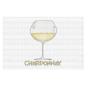 Decorative Floor Covering Mats | Marley Ungaro - Cocktails Chardonnay | Wine Glass