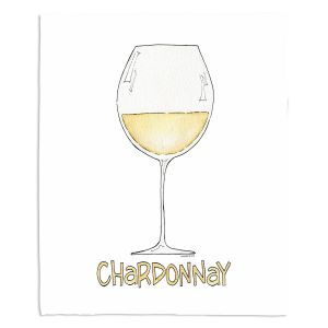 Decorative Fleece Throw Blankets | Marley Ungaro - Cocktails Chardonnay | Wine Glass