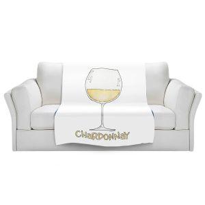 Artistic Sherpa Pile Blankets | Marley Ungaro - Cocktails Chardonnay | Wine Glass