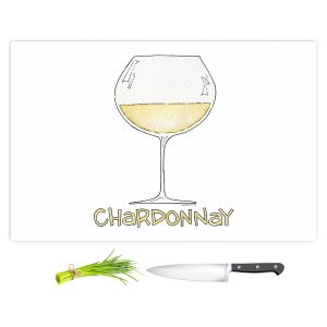 Artistic Kitchen Bar Cutting Boards | Marley Ungaro - Cocktails Chardonnay | Wine Glass