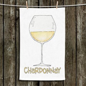 Unique Hanging Tea Towels | Marley Ungaro - Cocktails Chardonnay | Wine Glass