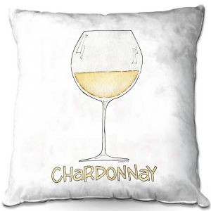 Throw Pillows Decorative Artistic | Marley Ungaro - Cocktails Chardonnay | Wine Glass