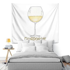 Artistic Wall Tapestry | Marley Ungaro - Cocktails Chardonnay | Wine Glass