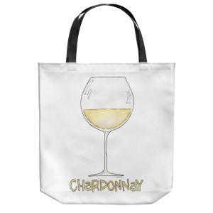 Unique Shoulder Bag Tote Bags | Marley Ungaro - Cocktails Chardonnay | Wine Glass