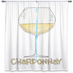 Decorative Window Treatments | Marley Ungaro - Cocktails Chardonnay | Wine Glass