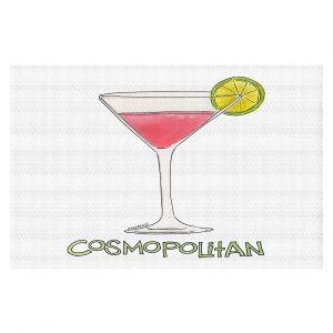 Decorative Floor Covering Mats | Marley Ungaro - Cocktails Cosmo | Water color still life class drink alcohol