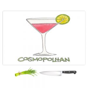 Artistic Kitchen Bar Cutting Boards | Marley Ungaro - Cocktails Cosmo | Water color still life class drink alcohol