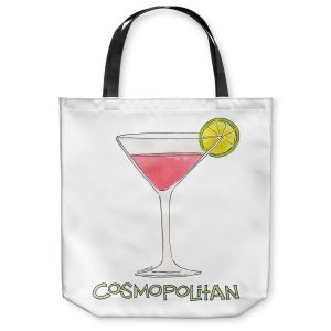 Unique Shoulder Bag Tote Bags | Marley Ungaro - Cocktails Cosmo | Water color still life class drink alcohol