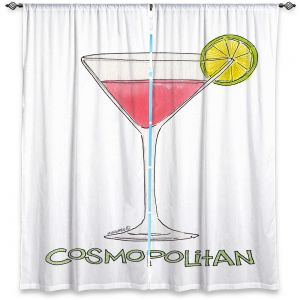 Decorative Window Treatments | Marley Ungaro - Cocktails Cosmo | Water color still life class drink alcohol