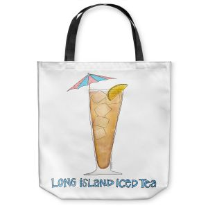 Unique Shoulder Bag Tote Bags | Marley Ungaro - Cocktails Long Island Ice Tea | Water color still life class drink alcohol