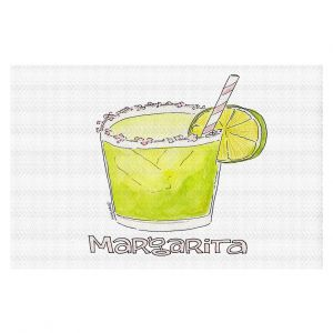 Decorative Floor Covering Mats | Marley Ungaro - Cocktails Margarita | Water color still life class drink alcohol