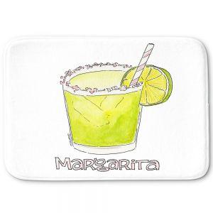 Decorative Bathroom Mats   Marley Ungaro - Cocktails Margarita   Water color still life class drink alcohol