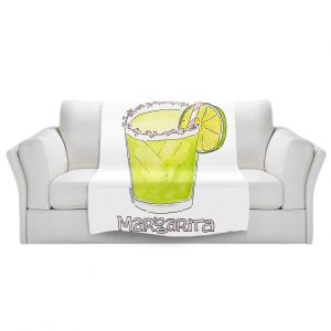 Artistic Sherpa Pile Blankets | Marley Ungaro - Cocktails Margarita | Water color still life class drink alcohol