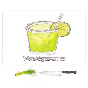 Artistic Kitchen Bar Cutting Boards | Marley Ungaro - Cocktails Margarita | Water color still life class drink alcohol