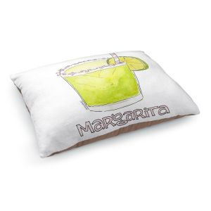 Decorative Dog Pet Beds | Marley Ungaro - Cocktails Margarita | Water color still life class drink alcohol