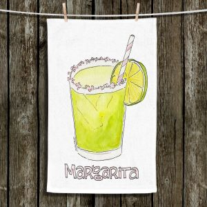 Unique Hanging Tea Towels | Marley Ungaro - Cocktails Margarita | Water color still life class drink alcohol