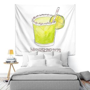 Artistic Wall Tapestry | Marley Ungaro - Cocktails Margarita | Water color still life class drink alcohol