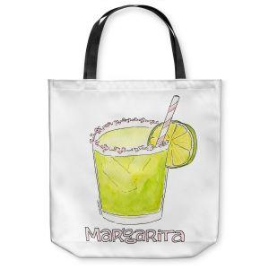 Unique Shoulder Bag Tote Bags | Marley Ungaro - Cocktails Margarita | Water color still life class drink alcohol
