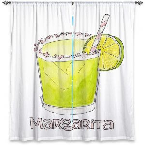 Decorative Window Treatments | Marley Ungaro - Cocktails Margarita | Water color still life class drink alcohol