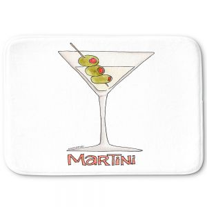 Decorative Bathroom Mats | Marley Ungaro - Cocktails Martini | Water color still life class drink alcohol