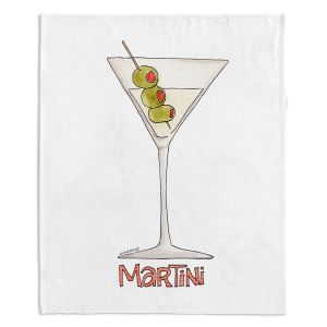 Artistic Sherpa Pile Blankets | Marley Ungaro - Cocktails Martini | Water color still life class drink alcohol