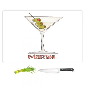 Artistic Kitchen Bar Cutting Boards | Marley Ungaro - Cocktails Martini | Water color still life class drink alcohol