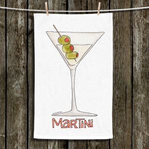 Unique Hanging Tea Towels | Marley Ungaro - Cocktails Martini | Water color still life class drink alcohol