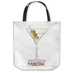 Unique Shoulder Bag Tote Bags | Marley Ungaro - Cocktails Martini | Water color still life class drink alcohol