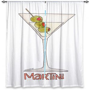 Decorative Window Treatments | Marley Ungaro - Cocktails Martini | Water color still life class drink alcohol