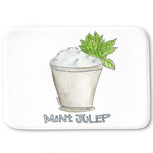 Decorative Bathroom Mats   Marley Ungaro - Cocktails Mint Julep   Water color still life class drink alcohol