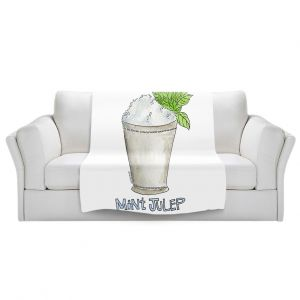 Artistic Sherpa Pile Blankets | Marley Ungaro - Cocktails Mint Julep | Water color still life class drink alcohol